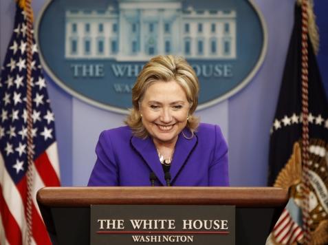 HillaryPodiumWhiteHouseAP